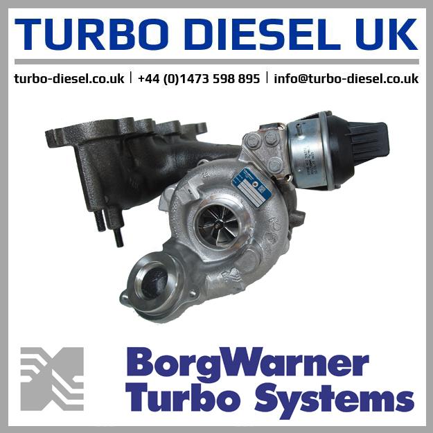 New Original BorgWarner / Audi Turbocharger 5303-988-0207 / 03L253056C