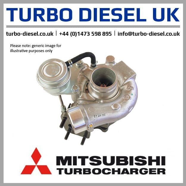 New Original MHI / Isuzu Turbocharger 49135-00120 / 8980023450